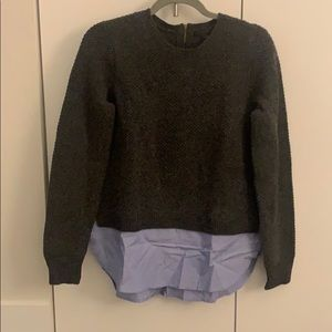 J Crew charcoal wool sweater size small